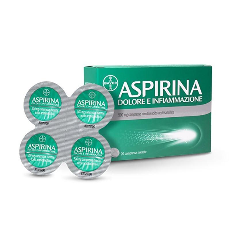 ASPIRINA DOLORE E INFIAMMAZIONE 20 COMPRESSE DA 500MG