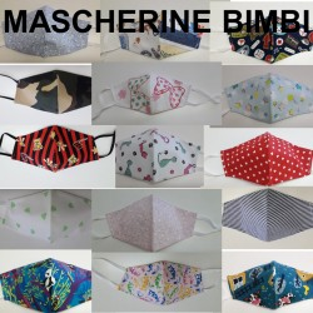 Mascherine Tessuto Lavabili COTONE 100% BIMBI (26 Fantasie)