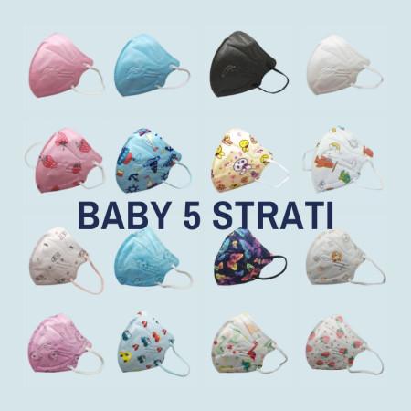 FEN BABY 5 STRATI: Mascherine colorate per bambini