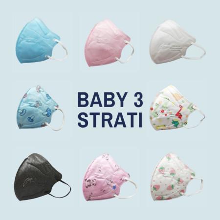 FEN BABY 3 STRATI: Mascherina per bambini - 10 PEZZI