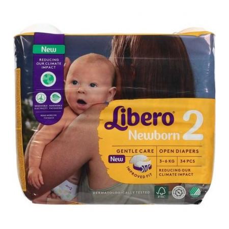 LIBERO NEWBORN 2 3-6KG 34P