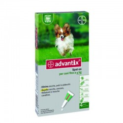 BAYER ADVANTIX SPOT ON 4 PIPE DA 4ML FINO 4KG