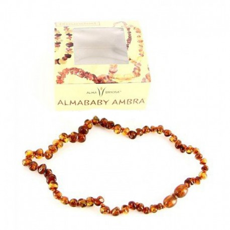 ALMABABY AMBRA COLLANINA ROUNDED COGNAC